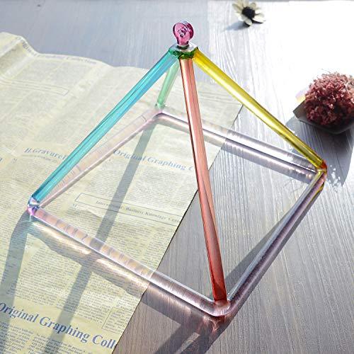 TOPFUND Kristallklangschale Noten 7 inch Rainbow regenbogenfarben
