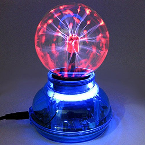 Kicode Magic USB Plasma Ball Esfera Lámpara de Cristal Claro Computadora Portátil Globo de Escritorio Dormitorio de iluminación de Escenario de Discoteca