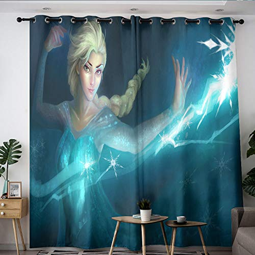 Frozen Elsa movie Decorative Curtains Customized Chid Curtains Room Darkening Wide Curtains for boys girls room W84 x L84