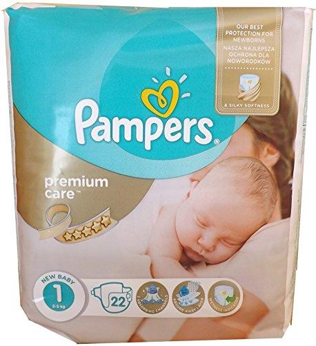 22 PAMPERS WINDELN , Premium Care Gr.1 2-5 Kg, NEW BABY, NEWBORN mit Urin-Indikator