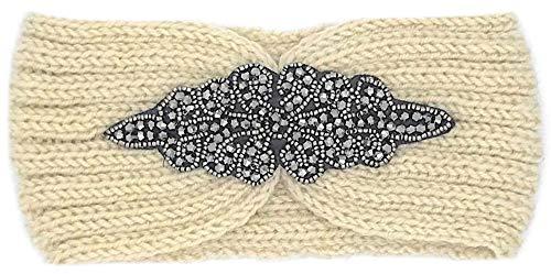 Fashion YOU WANT dames hoofdband met strikpatroon gevlochten met parels glitter of uni gebreide hoofdband haakwerk strik design winter hoofdband haarband trend 2019