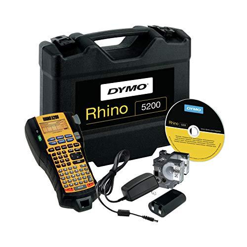 Dymo Rhino 5200Hard Case Kit–CD Label-Drucker (Code 39, Schwarz, Gelb, Schwarz, ABC, Li-Ion, China)
