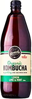 Remedy Organic Kombucha Lemon Lime Mint, 750ml