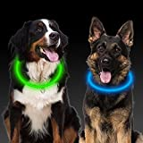LED Collar Perro, 2Pcs Collar Luminoso Perro, Collar de Seguridad LED USB Recargable, Collar Perro para Mascotas, 3 Modos de LED Brillantes Collar Impermeable Ajustable para Todos los Perros y Gatos