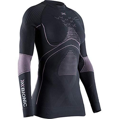 X-BIONIC Energy Accumulator 4.0 T-Shirt à Manches Longues et col Rond pour Femme Charbon/Magnolia Taille M