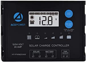 ACOPOWER ProteusX 20A 12V/24V Auto Negative PWM Waterproof Soalr Charge Controller w/LCD Display (New Launched)