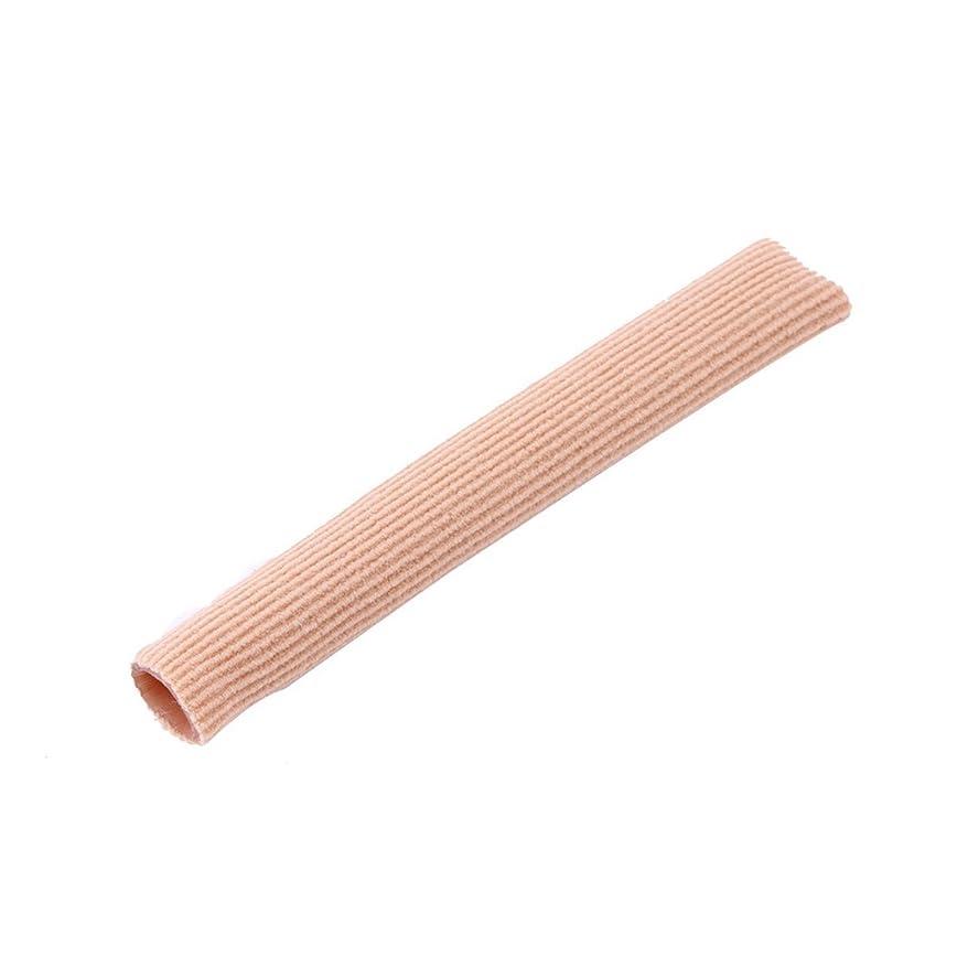 送る加速度人間ファブリックジェルチューブ包帯指&つま先保護足の足の痛みを軽減15CMフィートガード用足の保護用インソール(ピンク)