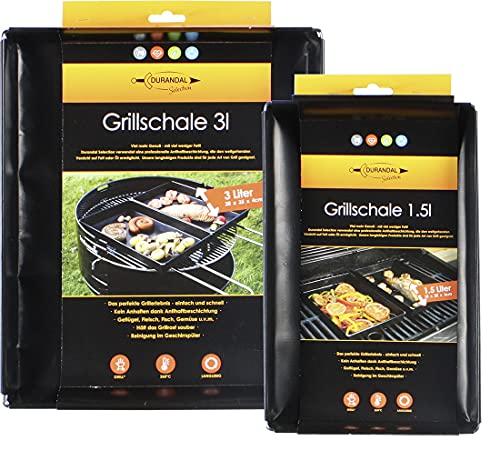 Broszio Durandal Grill Auflaufform Alternative für den Backofen und Grill | Ofenform für nahezu alle Grill und Öfen geeignet (Set 1,5L-3L)
