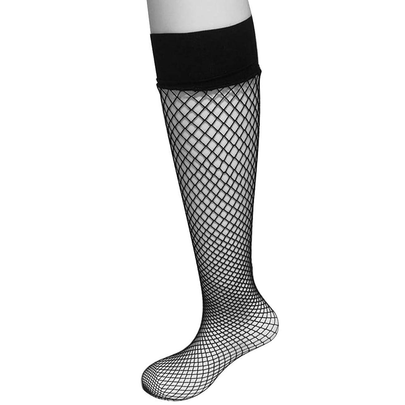 最初遅らせる要塞ストッキング カッコイイストッキング 網タイツ 黒メッシュ ネット靴下 足首/膝高いソックス 春夏通用 ひざの長さ