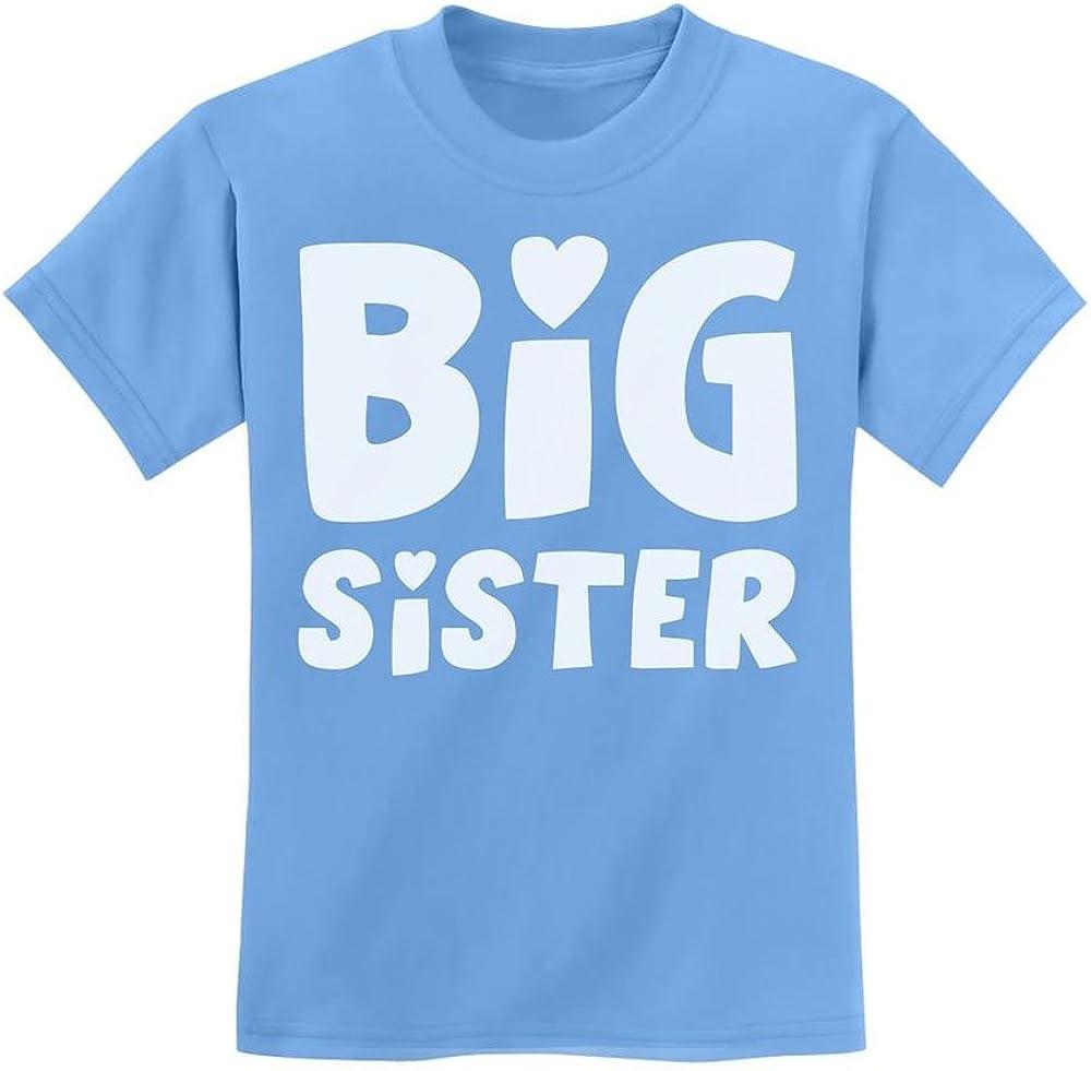 Loo Show Big Sister Sibling Gift Kids T-Shirt Girls Tee Blue