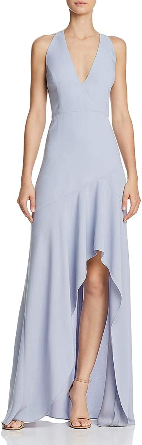 BCBG Max Azria Womens Obree HiLow Halter Formal Dress