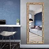 Tian Méditerranéen Parquet Massif Miroir Dressing Magasin de vêtements Salon Old Body Mirror Fitting (Color : 50 * 150cm)