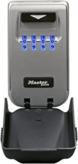 Master Lock 5425D Set Your Own Combination Wall Mount Lock Box with Light Up Dials, 6 Key Capacity