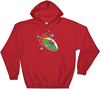 Amazingly Good Products Wales Rugby Union Jersey | 2019 Fans Kit for Welsh Unisex Hooded Sweatshirt