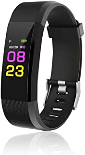 Kikole Smart Wristband with Heart Rate Monitor/Sleep Quality Monitor/Steps Counter/GPS Tracker and More, Smart Wristband Watch for Android and iOS Clips, Arm & Wristbands