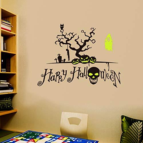 JXAA Doppel Zauber leuchtende Halloween Wandaufkleber Fenster Wohnzimmer Schlafzimmer Wanddekoration Wandaufkleber 57 * 37 cm