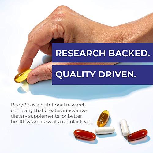 BodyBio Evening Primrose Oil - Natural Gamma Linolenic Acid for Healthy Skin & Hormone Balance - Non-GMO, Cold pressed…