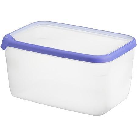 CURVER 00012-082-00 Boîte Grand Chef - Alimentaire Transparente Rectangulaire Plastique - Bleu (Transparent) - 7L