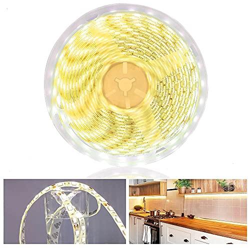 Arotelicht Striscia LED impermeabile da 5 m, 4000 K, bianco neutro, 12 V, 300 LED, 5050 SMD, 60 LED/M (bianco naturale, solo 5 m, IP65