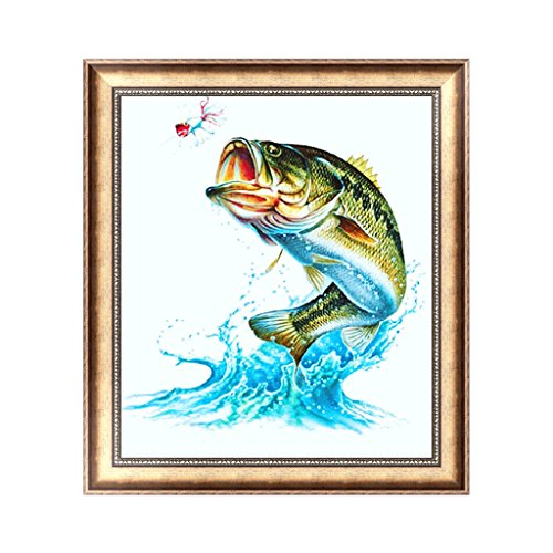 Aixia Onpiece DIY 5D Diamond Embroidery Painting Fish Cross Stitch Craft Office Home Decor