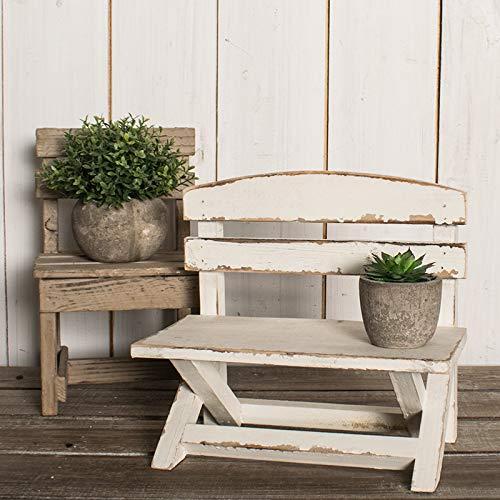 Kleine bloem retro houten stoel,Oud geld wit