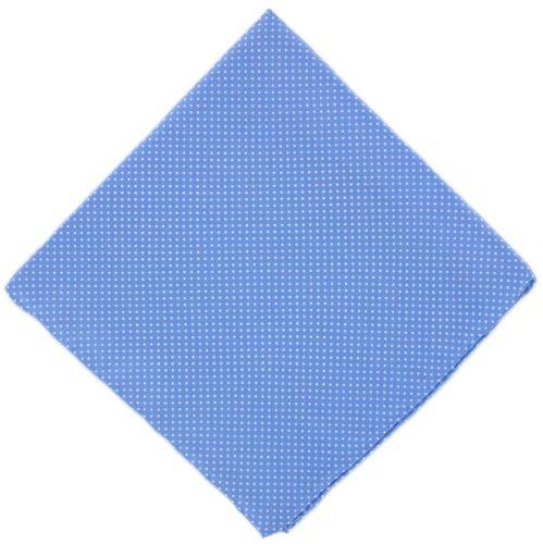 Michelsons of London Mouchoir bleu glacier Pin Dot soie de
