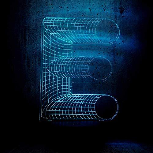 Lámpara de ilusión 3D Luz de noche LED Regalo de recuerdo fresco Letra del alfabeto Lámpara de escritorio degradada multicolor Barra de hogar Juguetes decorativos para niños