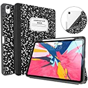 """Soke iPad Pro 11 Inch 2018 Case with Pencil Holder, Premium Trifold Case [Strong Protection + Apple Pencil Charging Supported], Auto Sleep/Wake, Soft TPU Back Cover for iPad Pro 11""""(Book Black)"""