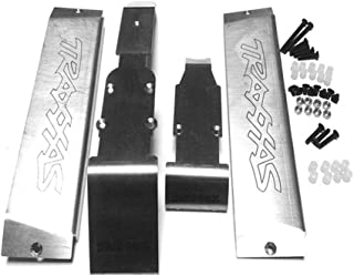 Samber for Traxxas Summit Stainless Steel Skid Plate Chassis Armor Front Middle Rear Protector E-Revo Armor Chassis Metal Protection Board