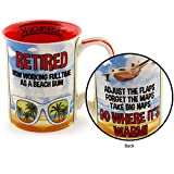 Enesco Margaritaville By Our Name Is Mud Retirement Stoneware Coffee Mug, 16 oz, Multicolor