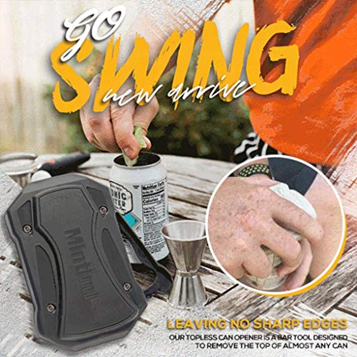 Go Swing Topless Can Opener, 1Pc Beverage & Beer Can Opener, Manual Smooth Edge Can Opener, Portable Safe Cut Can Opener Cutter,Easy to Use, No Sharp Edges Leaving, Food Grade Can Opener (w/o Box)