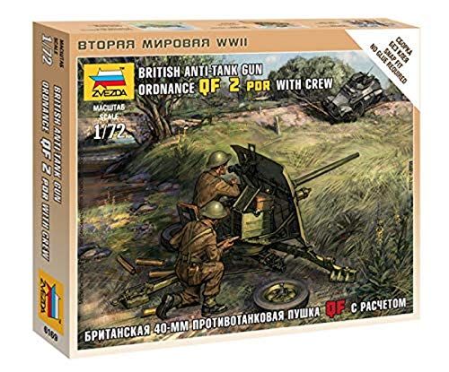Zvezda–Z6169–Modellbau–Panzer Sturmgewehr–Canon Britische + Servants