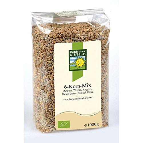 Bohlsener Mühle 6 Korn-Mix (Weizen, Roggen, Hafer, Gerste, Dinkel, Hirse), 1.0 kg