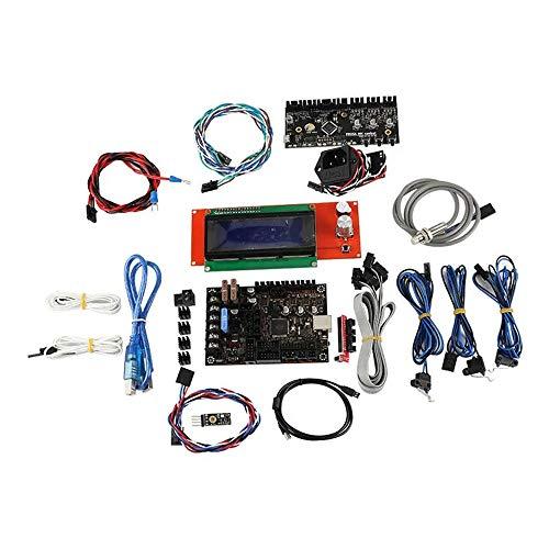Feixunfan 3D Printer Mainboard 3D Printer Part 1.1b Mainboard+PC MMU2.0 Board+Filament Sensor+Power Socket+2004 LCD Display+PINDA V2 Kit For Cnc Machine (Color : Black, Size : One size)