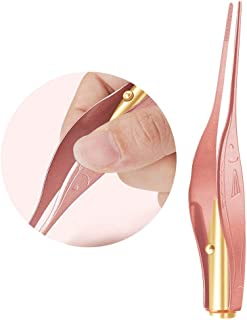 Niome Baby Ear Wax Cleaner LED Flashlight Earpick Earwax Remover Tweezers Ear Curette Spoon Health Care Rose Gold