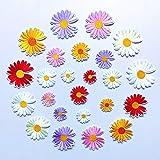 Parches para planchar/Patch Sticker, aplicado para la camiseta jeans Ropa Chaqueta Mochila Bolso y zapato, pequeña flor de margarita 24PCS