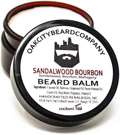 OakCityBeardCo Sandalwood Bourbon 2oz Beard Balm Beard Conditioner product image