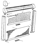 Brunner 209/327 - Mosquitera para persiana de caravana (compatible con S3 + S4, 730 x 700 mm)