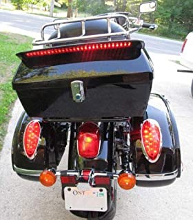 Motorcycle Luggage Tour Trunk W/Top Rack Backrest Taillight For Harley-Davidson