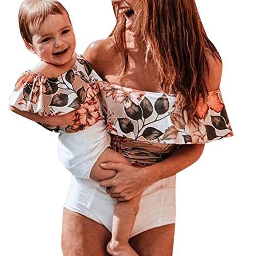 LUCKDE_Partnerlook Mutter Tochter Kleidung, Mutter Tochter Bikini Badeanzug Damen Bauchweg Bademode Mädchen Tankinis Strandbekleidung (2-3 Jahre, Tochter (WH4))