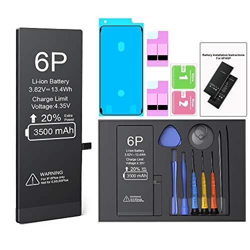 Batería para iPhone 6 Plus 3500mah, ButcHer Alta Capacidad Nuevo 0 ciclos Batería de Repuesto con Kit de reparación Completo, Compatible con iPhone 6 Plus Original (A1522, A1524, A1593)