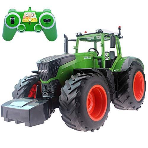 El juguete favorito del bebé, gran regalo para los Tractor de camiones Tractor de granja 2.4G Control remoto Trailer Dump / Rake 1:16 Alta simulación Construcción Vehículo para niños Juguetes Hobby