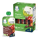 Gerber Organic Coconut Water Splashers, Cherry Sweet Potato Apple, 3.5 Fl Oz (Pack of 16)
