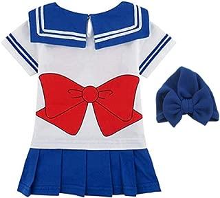 JarilnMo Sailor Moon Baby Girl Cosplay Onesie Dress Japanese Anime Babies 6M-24M (6M, Blue)