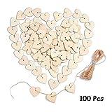 Herz Holz Scheiben Baumscheiben mit Loch 40mm100 Stücke zum basteln