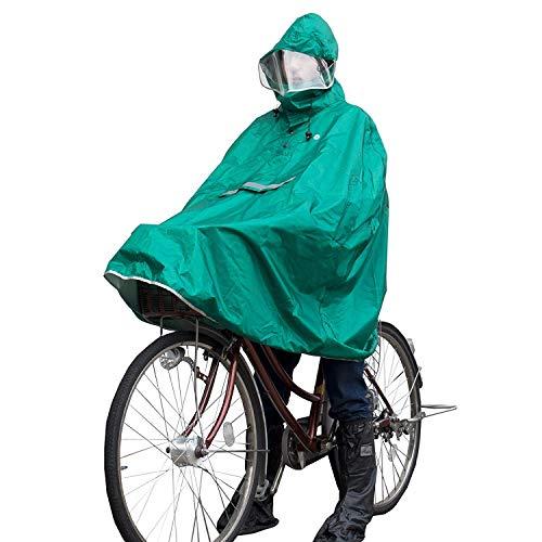 GORIX ゴリックス ポンチョ レインコート 雨具 自転車 バイク レインポンチョ かっぱ 収納袋付き レディース メンズ 男女兼用 緑(AMAGU2)