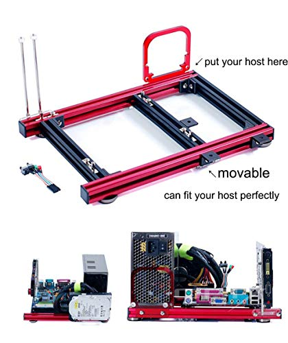 Electric Magic M-ATX MATX Motherboard Test Bench Open Air Frame Computer Case Aluminum Bracket DIY Bare Frame Support Graphics Card