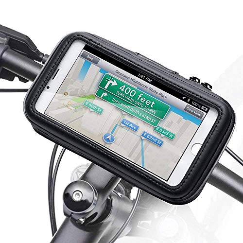 GTJXEY Bicycle Phone Holder, Waterproof Bike Phone Case Bag Compatible with 4.7-Inch to 6.3-Inch Smartphoness,M