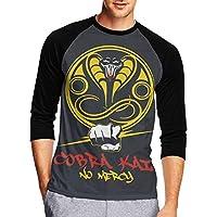 Logo Of Cobra Kai コブラカイのロゴ メンズ Tシャツ 半袖 薄手Tシャツ 丸首 快適 春秋冬 カジュアル 大きい シャツ 男の子 綿 S~Xxl スポーツ インナーシャツ T-Shirt