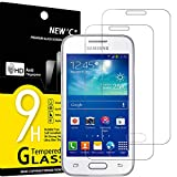 NEW'C 2 Unidades, Protector de Pantalla para Samsung Galaxy Ace 4 LTE (G313), Trend 2, Antiarañazos, Antihuellas, Sin Burbujas, Dureza 9H, 0.33 mm Ultra Transparente, Vidrio Templado Ultra Resistente